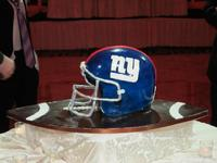 football helmet grooms cake