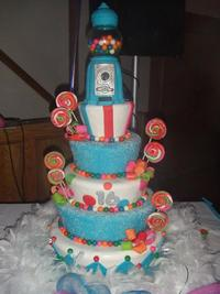candyland sweet sixteen cakes