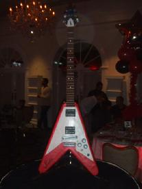 Flying V Guitar Cake