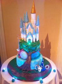 Disney Castle Sweet Sixteen Cake